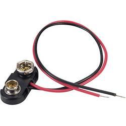 Baterije - držač 1x 9 V Block Snap priključak (D x Š x V) 24.5 x 11.8 x 7.3 mm TRU COMPONENTS 18-0094