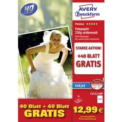 Foto papir Avery-Zweckform Photo Paper C2552-40P 10 x 15 cm 250 gm² 80 List Svilnato mat