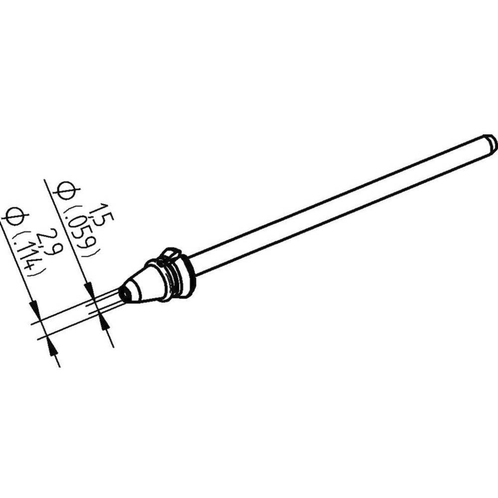Ersa 0742ED1529H/SB odspajkalna konica koničast Dolžina konice 79.25 mm Vsebina, količina, vsebina količinskih enot na prodajno