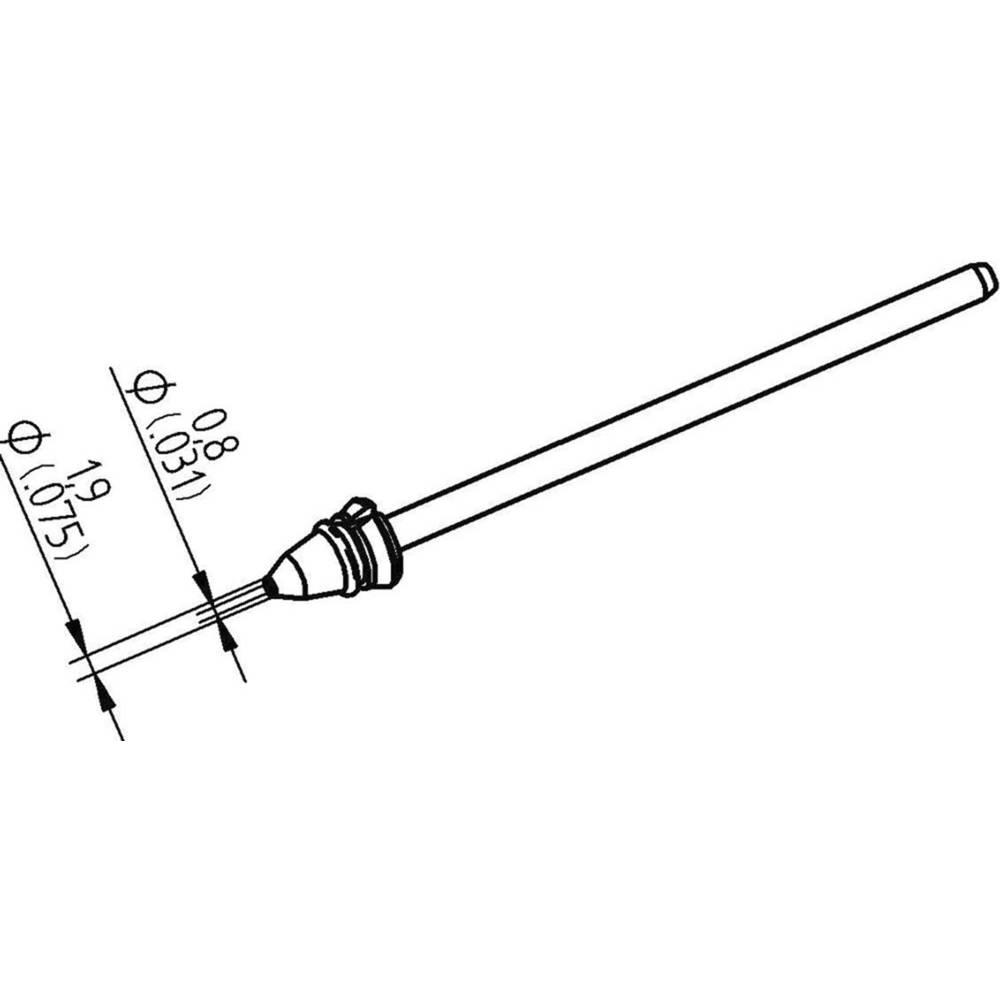 Ersa 0742ED0819H/SB Odspajkalna konica Koničast Dolžina konice 79.25 mm Vsebina, količina, vsebina količinskih enot na prodajno