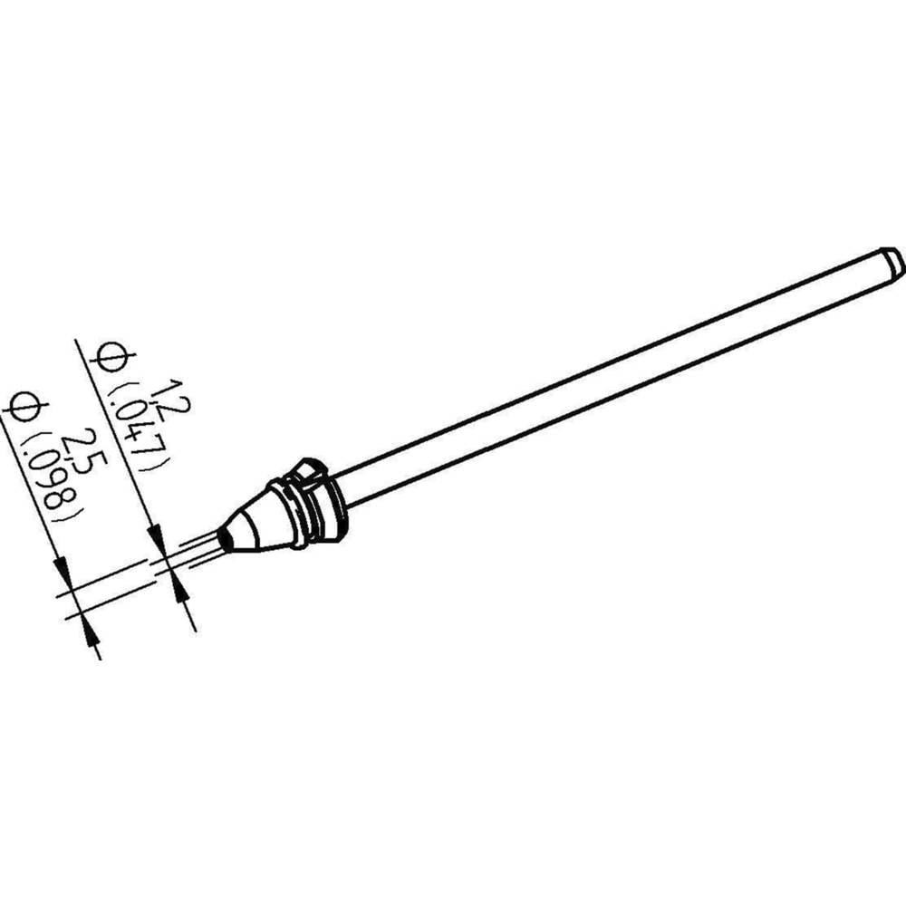 Ersa 0742ED1225H/SB odspajkalna konica koničast Dolžina konice 79.25 mm Vsebina, količina, vsebina količinskih enot na prodajno