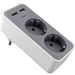 Caliber Audio Technology HPS1202U vmesna vtičnica z USB 2-polni bela, siva