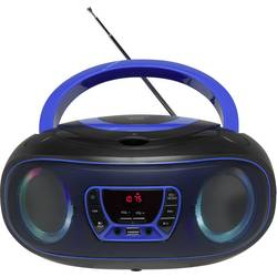 UKW CD radio Denver TCL-212BT AUX, CD, USB, Bluetooth Svjetlo raspoloženja Plava boja