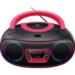 UKW CD radio Denver TCL-212BT AUX, CD, USB, Bluetooth Svjetlo raspoloženja Ružičasta