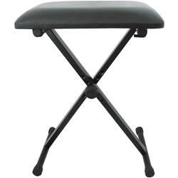 stolček za tastaturo MSA Musikinstrumente KB3 črna nastavljiv po višini