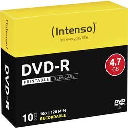 DVD-r prazan 4.7 GB Intenso 4801652 10 St. slimcase za tiskanje