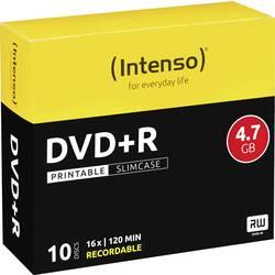 DVD+r prazan 4.7 GB Intenso 4811652 10 St. slimcase za tiskanje