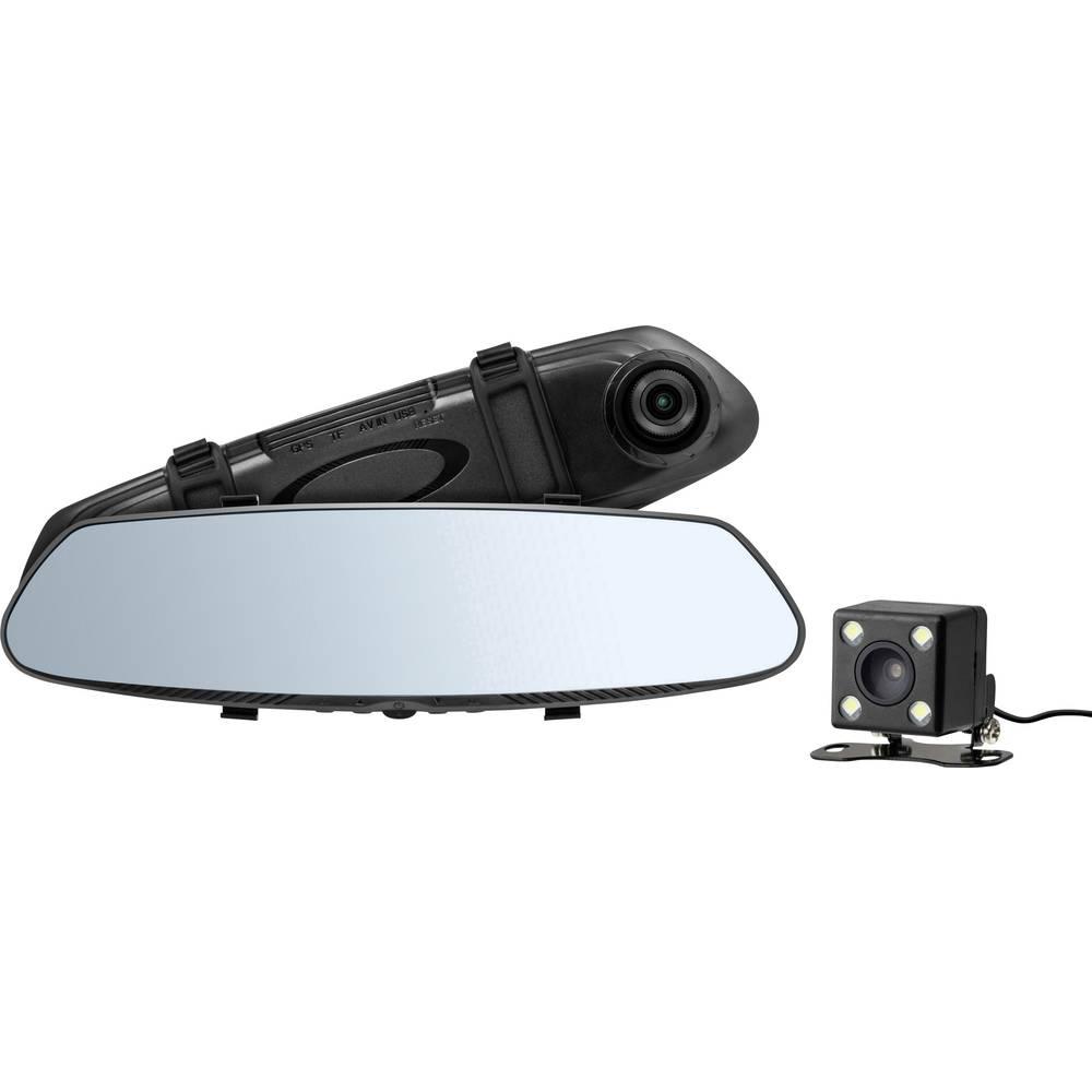 Avtomobilska kamera Technaxx TX-124 Razgledni kot - horizontalni=90 ° Vzvratno ogledalo, Kamera za vzvratno vožnjo