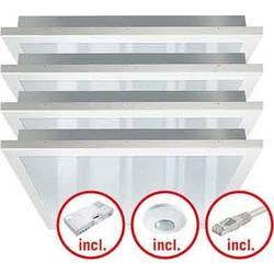 LED stropna svetilka LED LED, fiksno vgrajena EEK: LED (A++ - E) ESYLUX PNLCEL10 #EQ10122293 EQ10122293 Bela