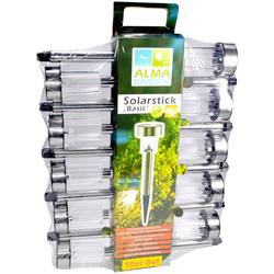 solar svjetlo za vrt Basic 1967415 baklja srebrna