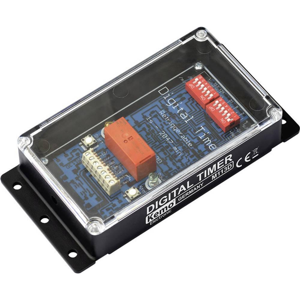 Kemo M113D Digitalno stikalo na časomer Končni izdelek 12 V/DC