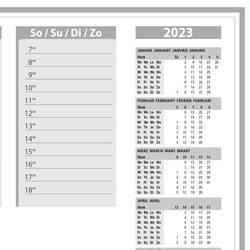 Sigel Protect HO366 podloga za pisanje koledar z 2 letoma siva (Š x V) 595 mm x 410 mm