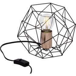 namizna svetilka led E27 60 W Brilliant Synergy 93593/76 črna, bakrena