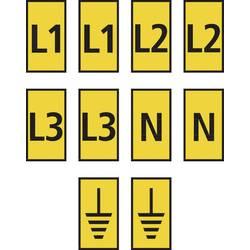 Sponka za označevalne oznake Tiskanje Erde 561-02303 WIC2-L1,L2,L3,N,Earth-PA66-YE (1000) HellermannTyton