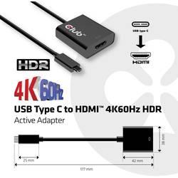 club3D USB adapter [1x USB 3.1 muški konektor ac - 1x ženski konektor HDMI] crna