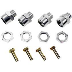 aluminij sojemalnik za platišča 12 mm na 17 mm +15 mm razširitev 12 mm 6-kotni Absima srebrna 1 KOS