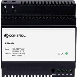 C-Control PSD-324 napajanje za din-letev Poraba (stanje pripravljenosti) 0.3 W 24 V/DC 4.2 A 100 W 1 x