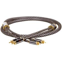 Dynavox Black Line avdio priklučni konektor [2x moški cinch konektor - 2x moški cinch konektor] 1.50 m zlata, črna