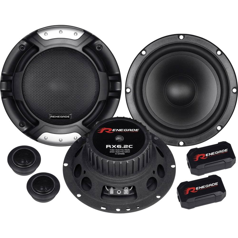 Renegade RX6.2C komplet 2-sistemskih vgradnih zvočnikov 200 W Vsebina: 1 kos