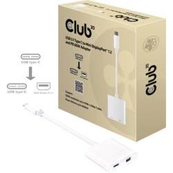 club3D USB adapter [1x muški konektor USB-C™ - 1x ženski konektor displayport, ženski konektor USB-C™] bijela