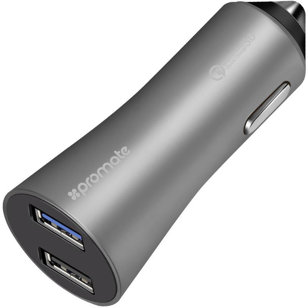 Pro Mate Robust-QC3 grey Robust-QC3grey USB napajalnik Osebno vozilo, Toprednjio vozilo Izhodni tok maks. 4800 mA 2 x Ženski kon