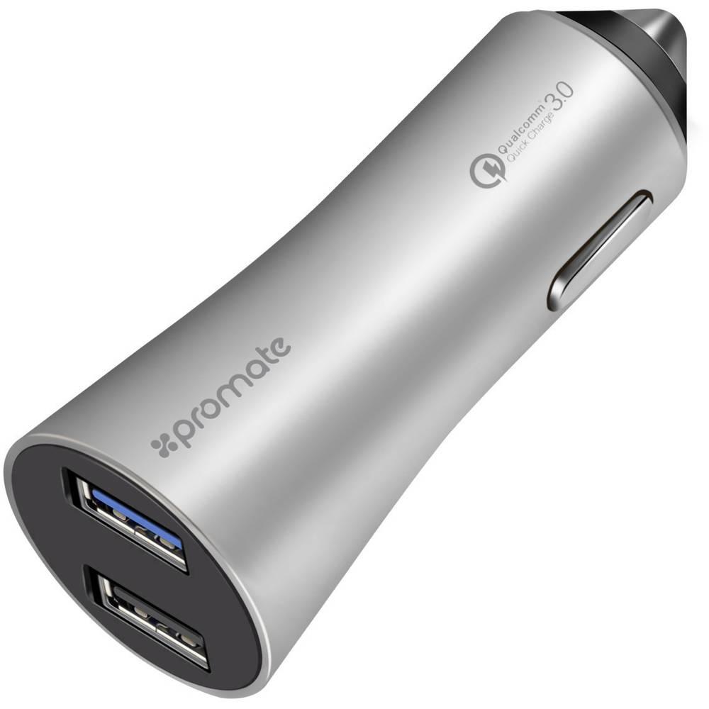 Pro Mate Robust-QC3 silver Robust-QC3silver USB napajalnik Osebno vozilo, Toprednjio vozilo Izhodni tok maks. 4800 mA 2 x Ženski