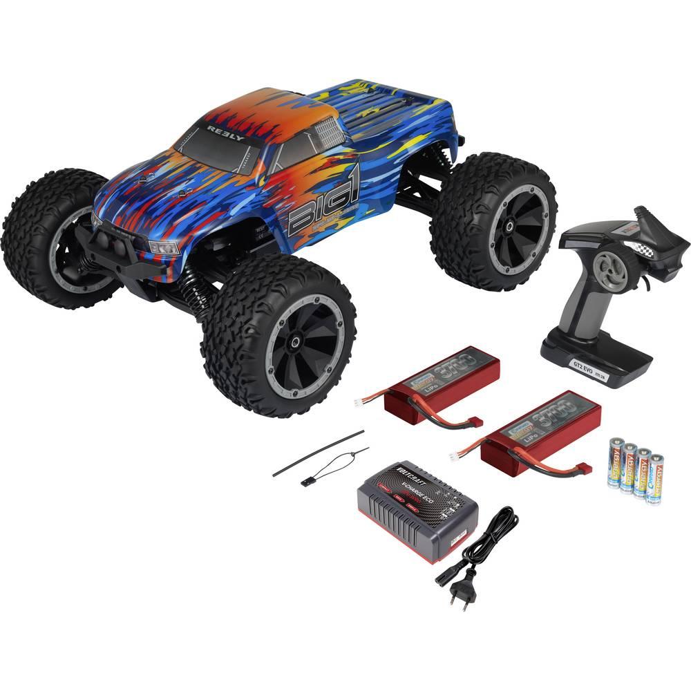 Reely BIG1 brez ščetk 1:8 RC Modeli avtomobilov Elektro Monster Truck Pogon na vsa kolesa (4WD) RtR 2,4 GHz Vklj. akumulator, po