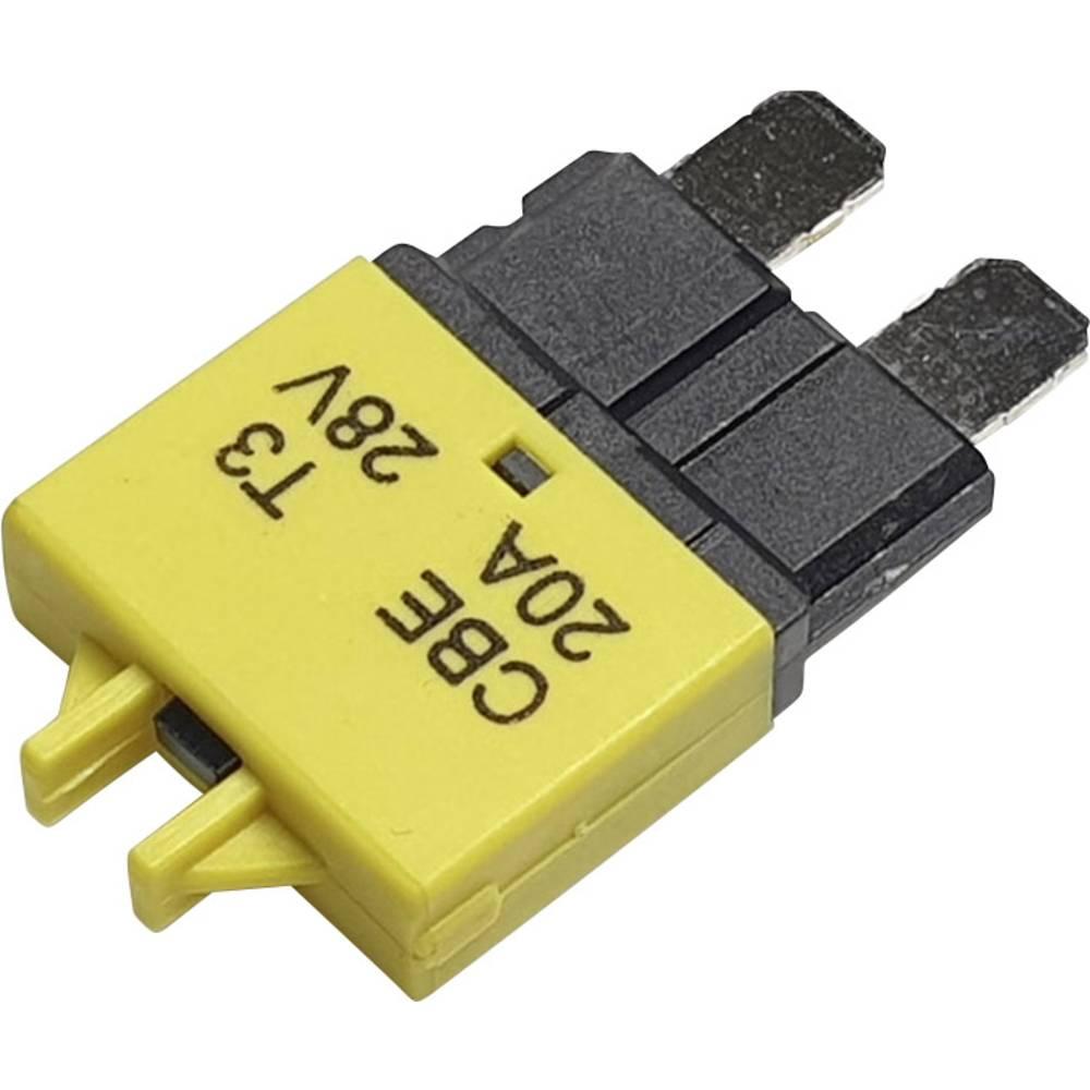 Hansor Circuit Breaker Standard, type 3, Manual Reset, 20A CBE3 Series 20A Avtomatska varovalka standardne ploščate varovalke 20