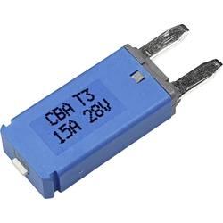 Hansor Circuit Breaker Mini, type 3. Manual Reset, 15A CBA3 Series 15A Avtomatska varovalka standardne ploščate varovalke 15 A M