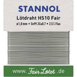 Stannol HS10Fair Spajkalna žica, neosvinčena Neosvinčeni Sn99.3Cu0.7 30 g 1.0 mm