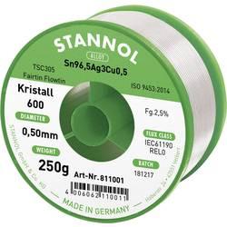 Stannol Kristall 600 Fairtin Spajkalna žica, neosvinčena Neosvinčeni Sn3.0Ag0.5Cu 250 g 0.7 mm