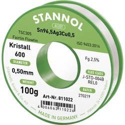 Stannol Kristall 600 Fairtin Spajkalna žica, neosvinčena Neosvinčeni Sn3.0Ag0.5Cu 100 g 0.5 mm