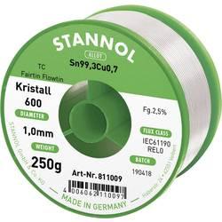 Stannol Kristall 600 Fairtin spajkalna žica, neosvinčena neosvinčeni Sn0.7Cu 250 g 1.0 mm