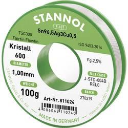 Stannol Kristall 600 Fairtin spajkalna žica, neosvinčena neosvinčeni Sn3.0Ag0.5Cu 100 g 1.0 mm