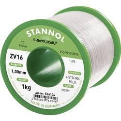 Stannol ZV16 spajkalna žica, neosvinčena neosvinčeni Sn0.7Cu 1000 g 1.0 mm