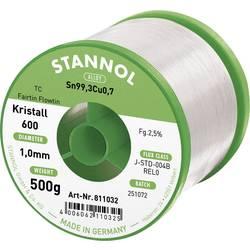 Stannol Kristall 600 Fairtin spajkalna žica, neosvinčena neosvinčeni Sn0.7Cu 500 g 1.0 mm