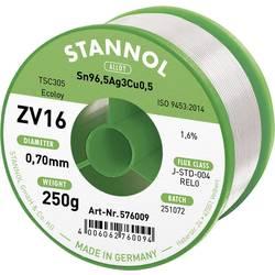 Stannol ZV16 Spajkalna žica, neosvinčena Neosvinčeni Sn3.0Ag0.5Cu 250 g 0.7 mm