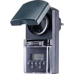 Basetech BT-2106308 Vremenski prekidač za utičnicu Digitalno Tjedni program 1800 W IP44 Funkcija odbrojavanja , Random funkcija