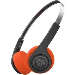 Bluetooth® Naglavne slušalice JLab Rewind Wireless Retro Na ušima Slušalice s mikrofonom, Personalizacija zvuka Crna