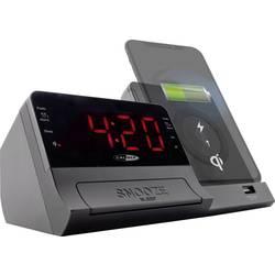 Caliber Audio Technology HCG012QI-BT UKW Radijska budilka AUX, Bluetooth Funkcija polnjenja baterije Črna