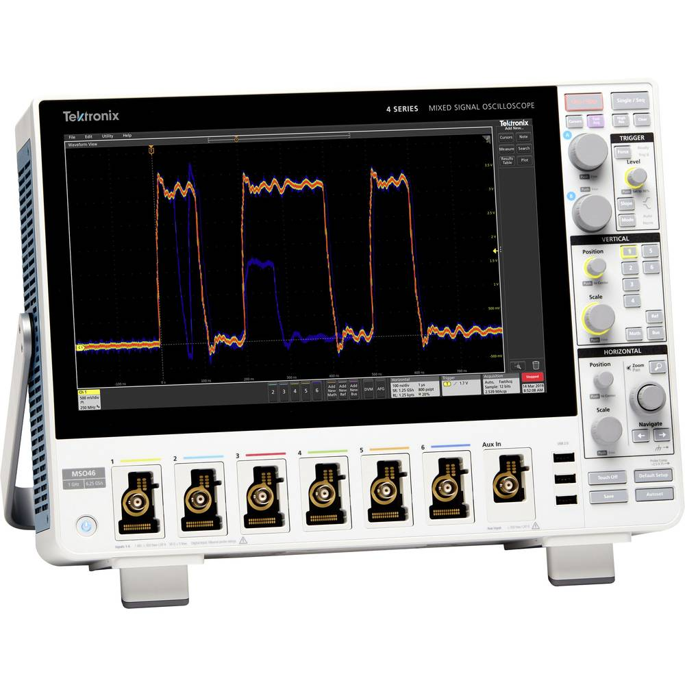 Tektronix MSO44 4-BW-350 Digitalni osciloskop 350 MHz 6.25 GSa/s 31.25 Mpts 12 Bit