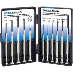 elektronika, precizna mehanika, radionica montažni odvijač Basetech ravni prorez, križni phillips