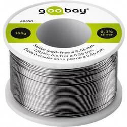 Goobay Spajkalna žica, neosvinčena Neosvinčeni, Tuljava Sn99.3Cu0.7 100 g 0.56 mm