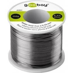 Goobay Spajkalna žica, neosvinčena Neosvinčeni, Tuljava Sn99.3Cu0.7 250 g 0.56 mm