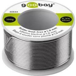 Goobay spajkalna žica, neosvinčena neosvinčeni, tuljava Sn99.3Cu0.7 100 g 1.0 mm