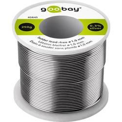 Goobay Spajkalna žica, neosvinčena Neosvinčeni, Tuljava Sn99.3Cu0.7 250 g 1.0 mm