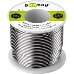 Goobay spajkalna žica, neosvinčena neosvinčeni, tuljava Sn99.3Cu0.7 250 g 1.5 mm