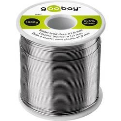 Goobay Lötzinn bleifrei ø 1,0 mm, 1000 g Spajkalna žica, neosvinčena Neosvinčeni, Tuljava Sn99.3Cu0.7 1000 g 1.0 mm