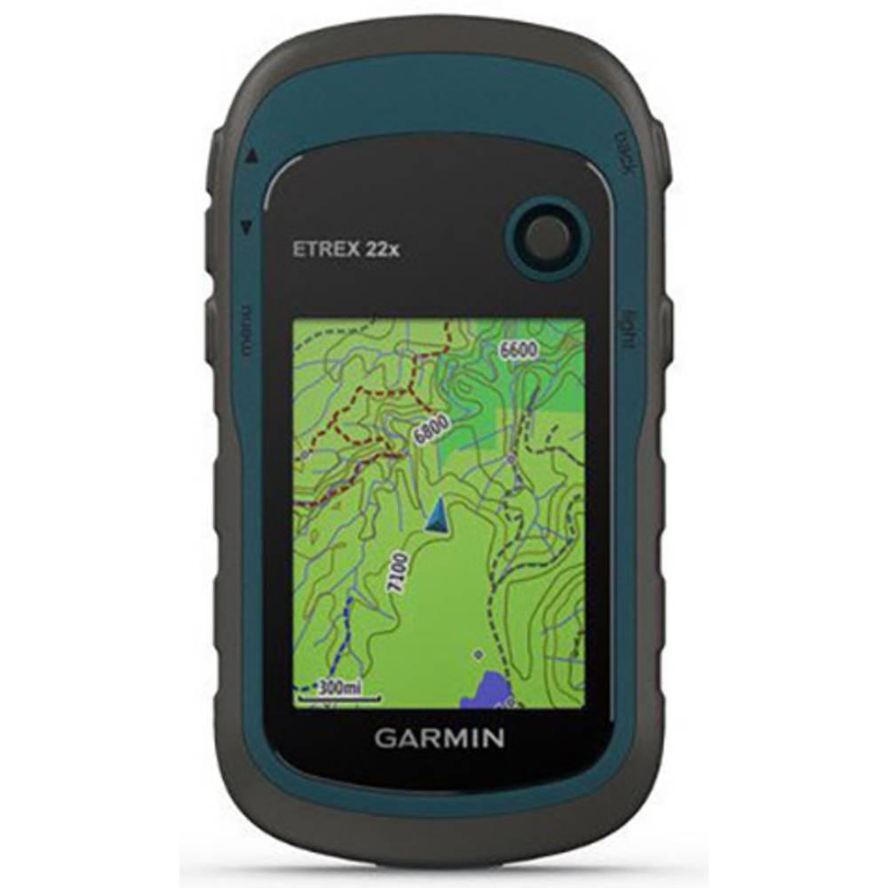 Garmin eTrex 22x Navigacija za kolo Čoln, Pohodništvo, Kolesarjenje Evropa GLONASS, GPS, Zaščita pred brizganjem vode, Vklj. top