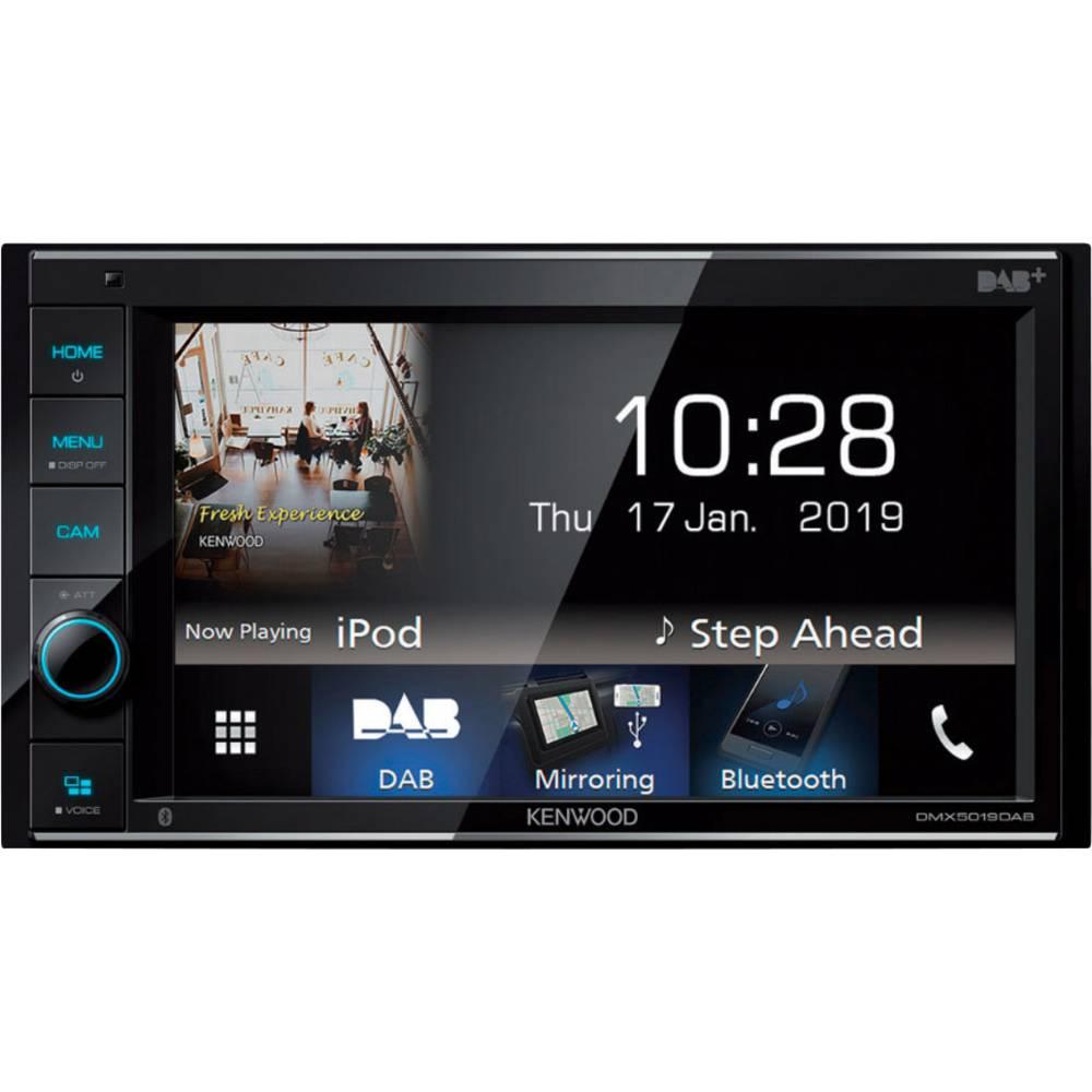 Kenwood DMX-5019DAB Dvojni DIN multimedijski predvajalnik Priključek za vzvratno kamero, Bluetooth® komplet za prostoročno t